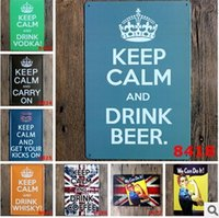 Cheap KEEP Calm and Drink BEER Vintage metal painting Wall Art Metal Decor Posters