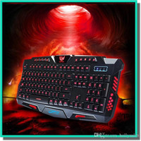 Wholesale Backlight game keyboard City fangyuan HK M200 three color backlit keyboard key without mechanical shooting game keyboard fit for cf lol