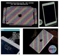 Wholesale Shiny Glitter Luxury Rainbow Full Body Sticker For Apple Ipad Mini Cover Bling Diamond Colorful Front Back Side Skin Case Box