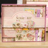 baby girl scrapbook album - 2015 New Diy Photo Album Flower Life Series Albums for Baby Girl Scrapbooking Kit home decoration scrapbook album de fotos b509