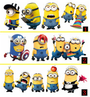Wholesale Despicable Me Minions Car stickers quot reflect light many designs Minions stickers deco on cars reflective anime car stickers car decals