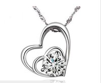 affinity diamond jewelry - Hot fashion white gold plated pendant sterling silver Mutual affinity pendant necklace jewelry weight g size mm