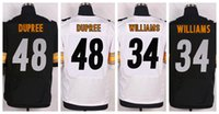 authentic steelers jersey - Top Quality Cheap Steelers Bud Dupree DeAngelo Williams Jersey White Black Elite Authentic American Football Jerseys Mix Order