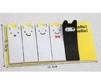 Wholesale 2015 New Cute Sale Lovely Smiling Face Enduring Rabbit Sticky Note Notepad Page Bookmark Memo Pad