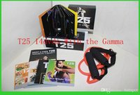 Cheap Top Workout Shaun T Focus Fitness Tutorial T25 14 DVD Workout Alpha Beta Core With Resistance Band hottest Factory Sealed Can Mix Order