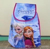 Wholesale Frozen Boys Girls Cartoon Bags Princess Anna Elsa Handbags Child School Drawstring Bag Kids Children s Day Gift Snow Queen Casual Bags