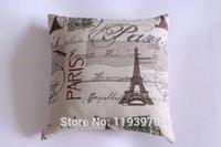 antique pillow cases - new Antique Paris La Tour Eiffel Linen and cotton Pillow Case Decor Cushion Covers bolster Case