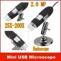 Wholesale 8x LED light Mini USB X X Portable Magnifier MP Digital Microscope Endoscope Camera
