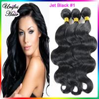brazilian hair bundle jet black - 6A Brazilian Virgin Hair Body Wave Premium Now Hair Weavon Real Human Hair Extensions Cheap Brazillian Hair Weave Bundles Jet Black