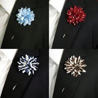 Wholesale Silk Blend Fashion Lapel Flowers Handmade Boutonniere Stick Pin Wedding