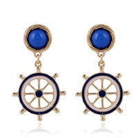 animal origins - Factory direct supply origin fashion simple Navy small fresh rudder lady Earrings
