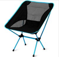 camping chairs - new Outdoor Folding Chair Portable Chair Folding Seat Stool For Fishing Camping Hiking Gardening Beach Fishing Picnic BBQ with Bag free