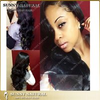 Wholesale Cheap Wigs Weaves - hot cheap brazilian body wave wigs with bangs natural black 7a human weaving hair full lace wig&lace front wig for black women