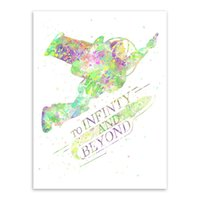 motivational posters - Watercolor Toy Story Infinity Motivational Quotes Kids Room Abstract Wall Art Pop Movie Anime Poster Print Canvas Painting Gifts