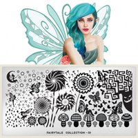 Wholesale 12 Styles Stamping Nail Art Steel Image Plate Stamp Manicure Template Hot Nail Tools JH013