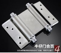 automatic steel gates - 4 inch stainless steel automatic closed door double spring hinge two way open free door closer hinge cowboy bars gate