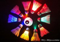 Wholesale LED Badminton Glow in the Dark Bird Colorful LED Shuttlecock Badminton Feather Birdies Amazon