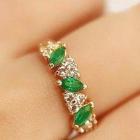 antique emerald ring - Fashion Antique Luxury Women rings Ruili Sweet Retro Emerald Ring lash Imitation Diamond Rings Women Jewelry