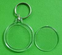 acrylic keychain supplier - 50PCS Acrylic Round Circle Photo Keychain Wedding Favor Guest Gift Supplier Transparent Insert Picture Personalized Keychains