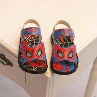 beach sandls - cute spider man children sandls boys sandals fashion light kids sandals summer new boys beach shoes non slip boy sandals