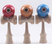 Wholesale 20pcs Hole Kendama Japanese Traditional Wood Game Kids Toy PU Paint Beech