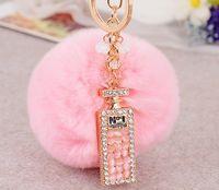 ball bottle opener - fashion long perfume bottles maomao ball car key chain accessories customized gift bag