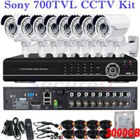 best network hdd - 8ch cctv surveillance kit best home security system intall ch D1 HDMI DVR network digital video recorder with TB HDD hard disk