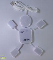 Wholesale 50X Xmas HIGH SPEED PORTS USB MULTI HUB EXPANSION SPLITTER ADAPTER PC LAPTOP UMPC SR