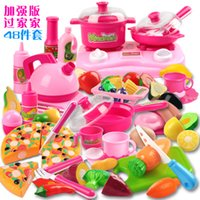 Wholesale children s play toys cooking sets of kitchen toy sets gift cut fruit or vegetables cut pizza toy happy girl and boy puzzle kid toy