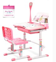 Wholesale Children learn table Children can lift desk Children learn furniture suits Children s writing desk and chair
