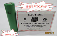 3.7V 18650 battery - High quality Lithium battery VTC3 VTC4 VTC5 battery li ion battery battery for all kinds of e cigs Best Quality