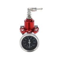 Wholesale Car Auto Professional High Performance Adjustable Fuel Pressure Regulator with Filled Oil Gauge Pressure Regulator