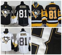 Wholesale 2015 New Pittsburgh Phil Kessel white black yellow American Premier NHL Hockey Jerseys Ice Winter Home Away Jersey Stitched Authentic