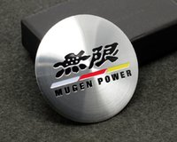 Wholesale Exterior Accessories Car Stickers C027 Wheel Hub Caps Centre Cover Emblem Sticker mm MUGEN POWER cap cover