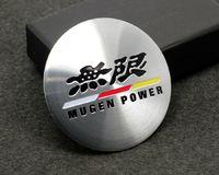 Wholesale Exterior Accessories Car Stickers C027 Wheel Hub Caps Centre Cover Emblem Sticker mm MUGEN POWER cap cover