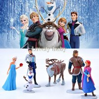 age kit - Promotion Set Movie Figures Toys Cake Topper Deco Toy Frozen Dolls Anna Elsa Kristoff Olaf Toy Set Kits SV005707