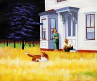 art reproduction artist - Edward Hopper decoration oil painting Cape Cod Evening Art famous artist reproduction