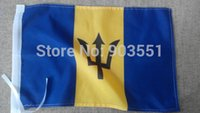barbados flag - Double stitch Barbados flag banner x5 ft