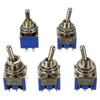 Wholesale The Best Quality MTS Pin A V AC Mini Toggle DPDT ON ON Electrical Switches New