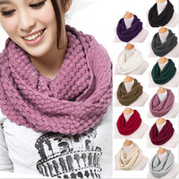 knit circle scarf - Fashion Women Men Warm Knit Neck Circle Wool Cowl Snood Long Scarf Shawl Wrap Ax30
