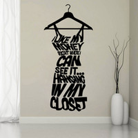 bedroom wear - Love My Money To Wear Boring Clothes Bedroom Vinyl Wall Sticker Art Decal Mural Home Decor Wallpaper HDE_0GZ