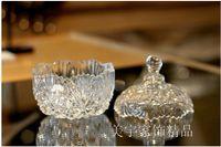 Wholesale Creative gifts diamond hand cut crystal household three piece suit European candy jar