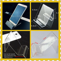 acrylic mobile phone display stand - Acrylic cell phone MP3 cigarette DV GPS display shelf Mounts Holders mobile phone display Stands Holder at good price