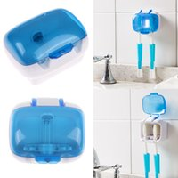 Wholesale New Healthy Double UV sterilization Toothbrush holder Toothbrush Sterilizer Wall Mount Stand toothbrush