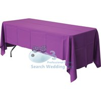 Wholesale Purple Color Polyester Table Cloth For Wedding Size Can Choose