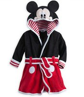 bath towel baby clothes - Mickey Minnie Mermaid Towels Robes baby clothing Pajama Lingerie Sleepwear Bath Gown pjs Nightgown kids clothes