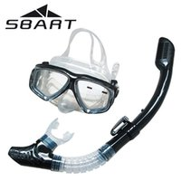 Wholesale SBART Scuba Diving Equipment Diving Mask Equipment Full dry Snorkel Anti Fog Swimming Snorkeling Diving Glasses Goggle