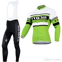 best thermal pants - 2015 NEW Scott Winter Thermal Fleece Long Sleeve Cycling Jersey Cycling Wear and bib Pants best quality drop shipping
