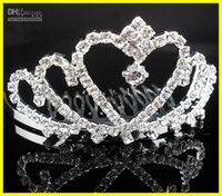 Wholesale 2016 New Arrival Cheap Tiaras Comb In Stock Dazzling Crown Homecoming Prom Cocktail Party Wedding Bridal Accessories Princess Crown
