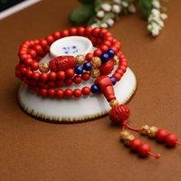 Wholesale Nice gifts Taiwan cinnabar bracelet Buddha multilayer lapis lazuli jewelry red natal couple bracelets Necklace